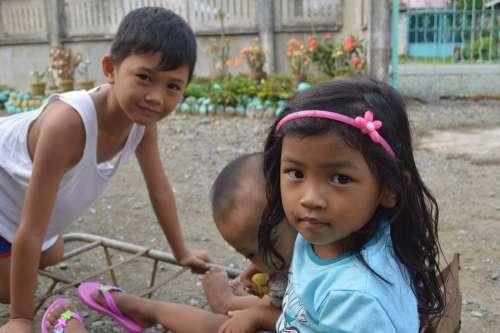 Filipino Children Native Filipinos Kids Play Boys