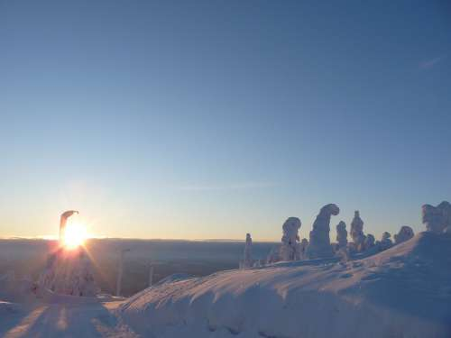 Finland Lapland Snow Landscape Snow Winter