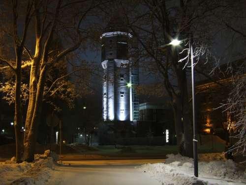 Finland Europe Snow Winter Night Light