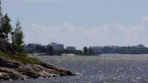 Finnish Helsinki Sea Beach Island
