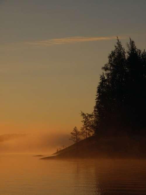 Finnish Saimaa Savonlinna Sky Lake Sunrise