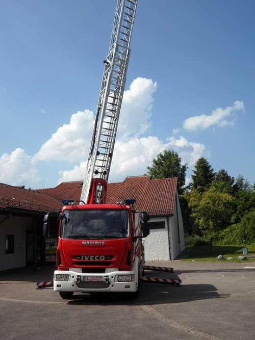 Fire Fire Truck Turntable Ladder Head Vehicle