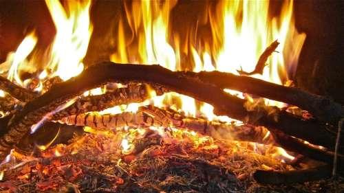 Fire Flames Embers Bonfire Campfire