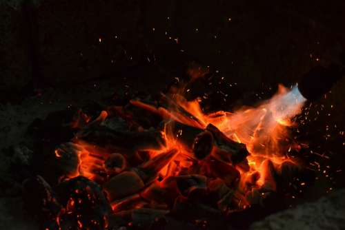 Fire Flame Embers Heat Flames Hot Bonfire