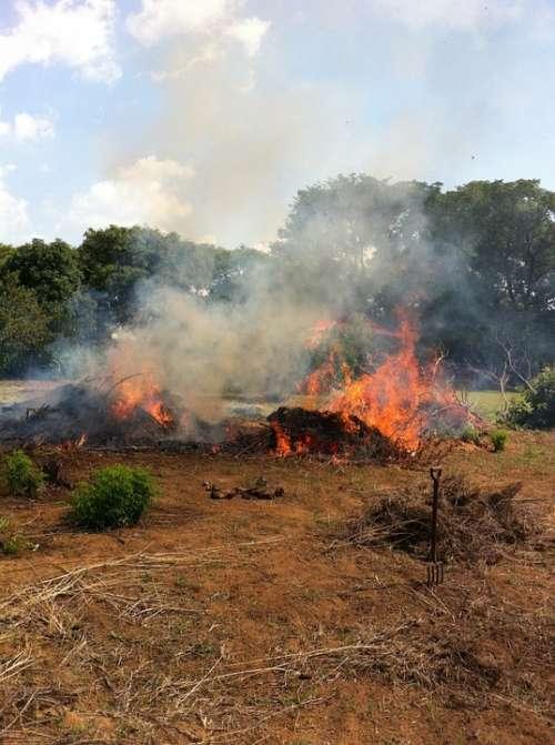 Fire Veld Smoke