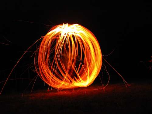 Fire Brand Sky Flame Glow Wood Fire