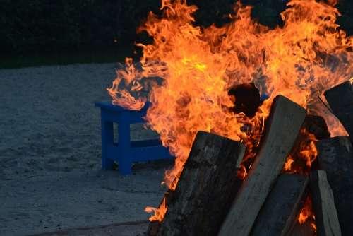 Fire Campfire Flame Burn Heat Barbecue Hot Blaze