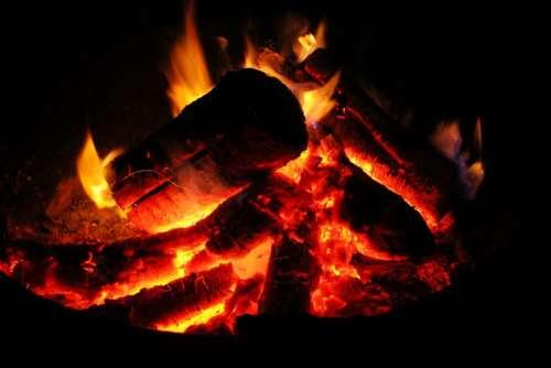 Fire Coals Ash Flame Heat Hot Energy Barbecue