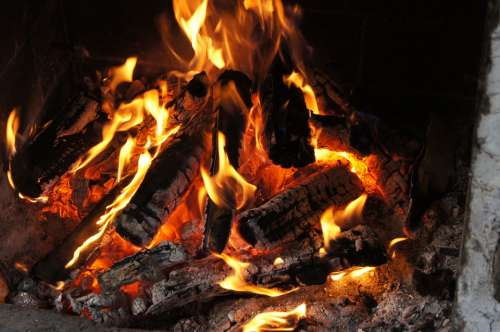 Fire Fireplace Censer Burn Relaxation Wood Smoke