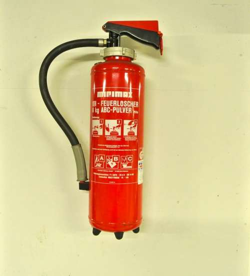 Fire Extinguisher Red Fire Emergency Abc-Powders