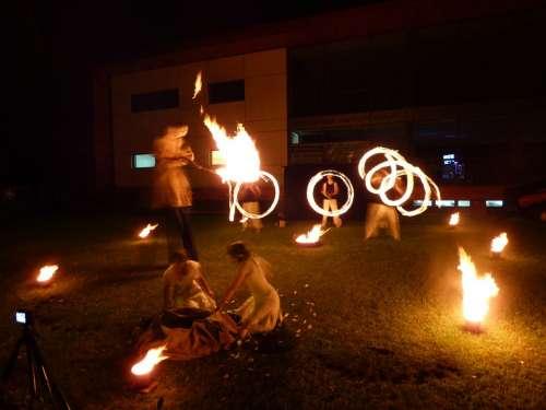 Fire Show Fire Flames Dance Burns Burn
