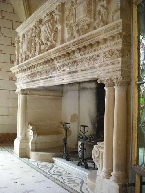 Fireplace Valmagne Abbey Pierre