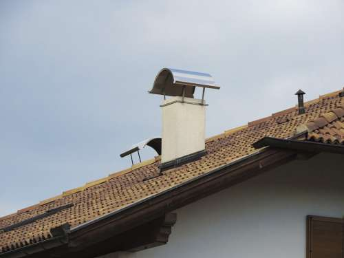 Fireplace Roof Roof Peaks Chimney Hut Houses
