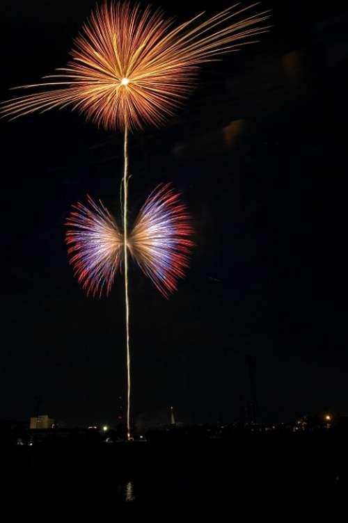 Firework Festival Thailand Celebration Festive