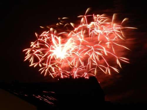 Fireworks Dresden Night
