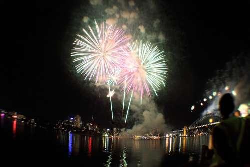 Fireworks Sydney Night Celebration Australia