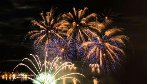 Fireworks Blast Light Lights Mystic Night Picture