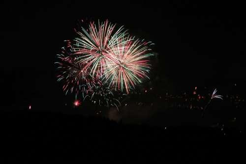Fireworks Night Light Hell Explosion Rocket