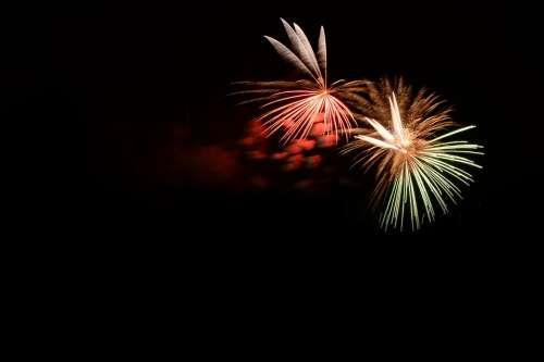 Fireworks Fire Colorful Bengali Fire Black Dark