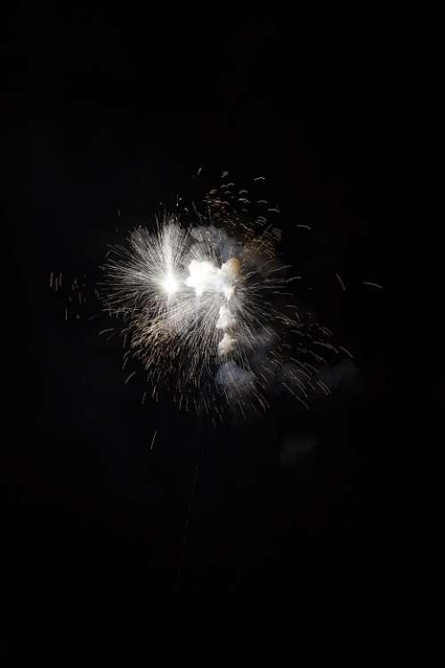 Fireworks Rocket White Explosion Smoke