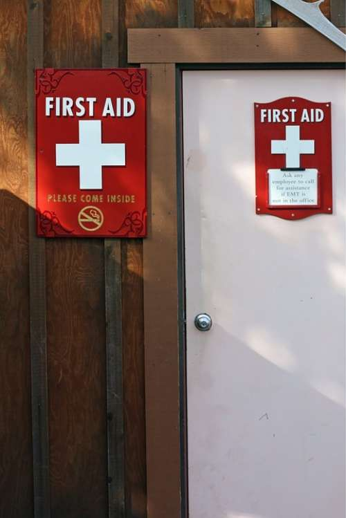 First Aid Station Door Medical First Aid