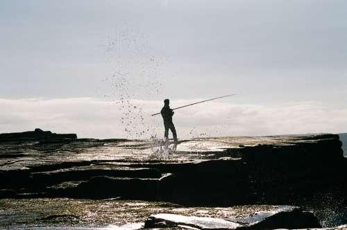 Fisherman Fishing Fishing Rod Coast