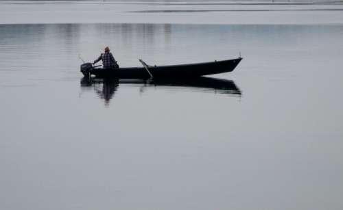 Fishing Fishing Boat Fisherman Lake Constance
