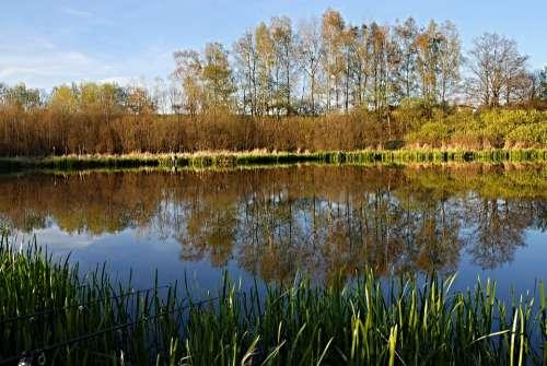 Fishing South Bohemia Ledenice Surface Pond Bank