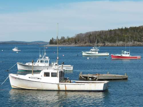 Fishing Boat Boats Lobstermen Lobster Boats Harbor