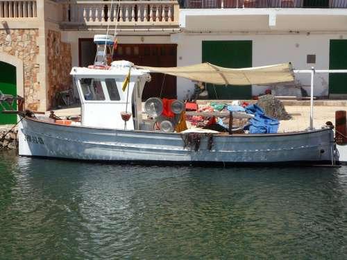 Fishing Boat Port Mallorca Cala Figuera Sea