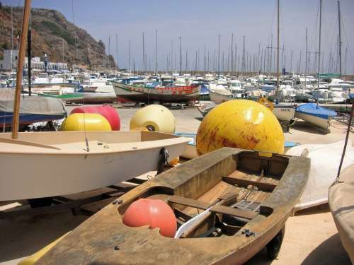 Fishing Port Harbour Boats Marina Buoys Coast