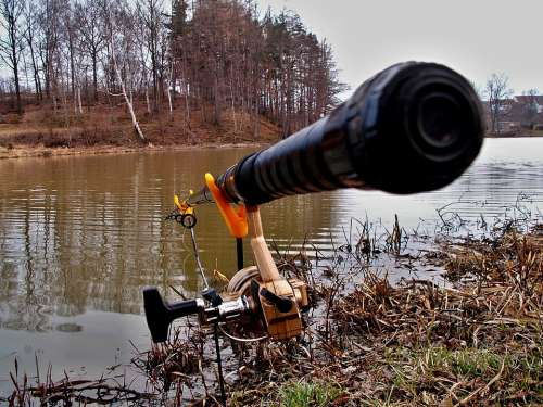 Fishing Rod Pond Fishing Rods Forks Fishing Water