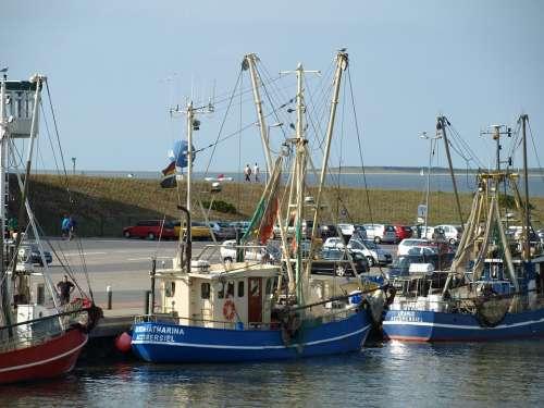 Fishing Vessel Dornumersiel Port Fishing Cutter