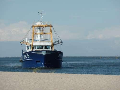 Fishing Vessel Sea Port Wadden Sea Boat Ship