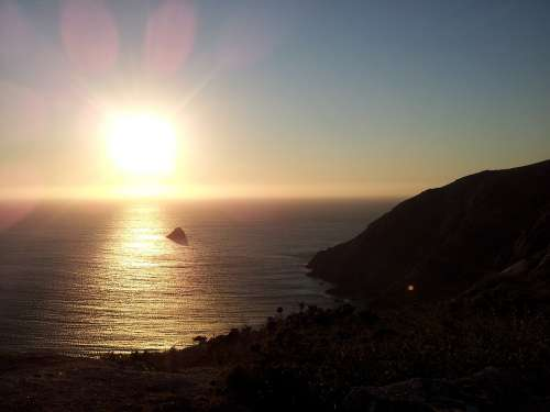 Fisterra Sunset Galicia Moon Lighthouse Cape