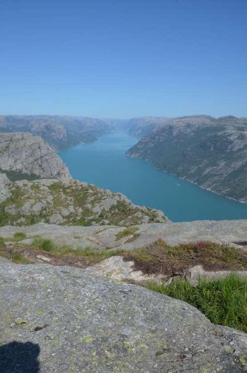Fjord Mountain Nature Sea Bay