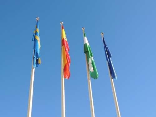 Flag Andalusia Spain Sky Mast Estardante
