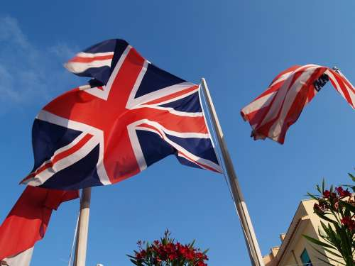 Flag English Usa United States United Kingdom