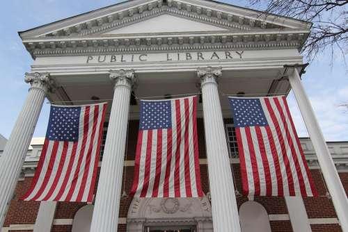 Flags Civic Pride Public Building Public Library