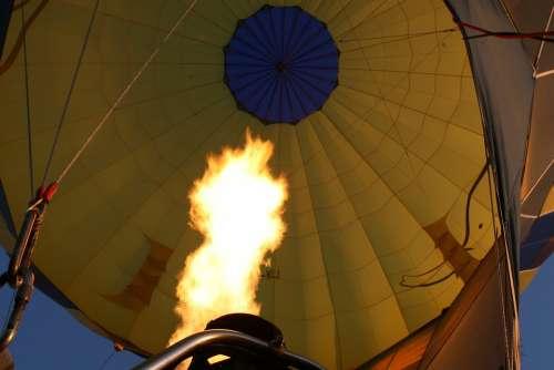 Flame Fire Balloon Ballooning Flight