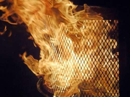 Flame Fire-Pit Nighttime Fire Orange Fun