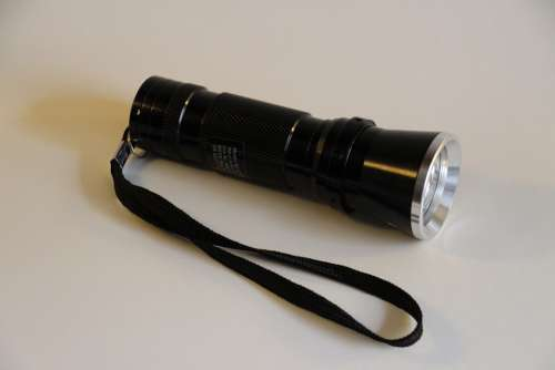 Flashlight Light Lamp Shining Black