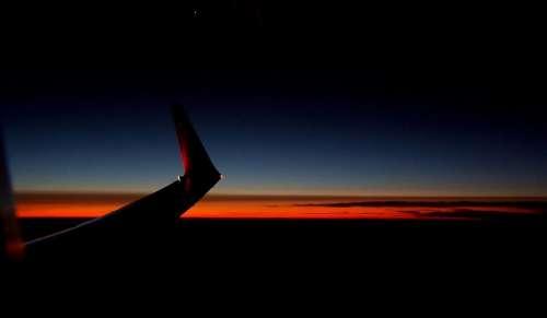 Flight Aircraft Flying Sky Night Aircraft Wing