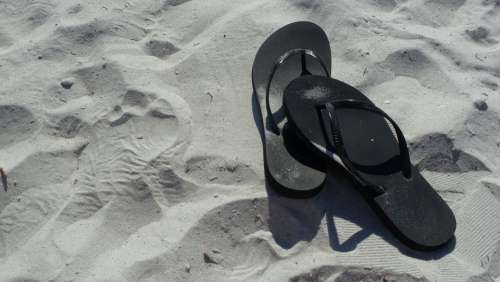 Flip-Flops Summer Vacation Sand Beach Sand Beach
