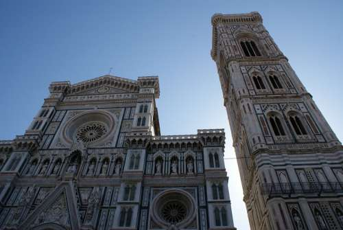 Florence The Cathedral Church Sky Architecture