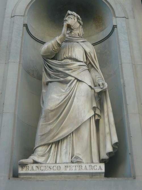 Florence Italy Italian Statue Petrarca