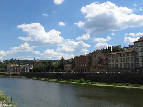 Florence River Arno River Italy