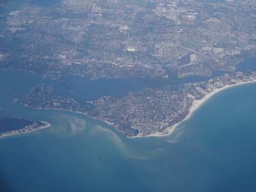 Florida Gulf Coast Aerial View Travel Coast