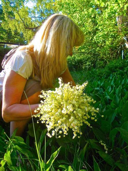 Flower Pickers Lilies Of The Valley Forest Glade