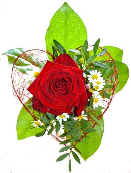 Flowers Rose Red Floral Arrangement Bouquet